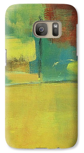 Galaxy Case featuring the painting Play by Kathy Sheeran
