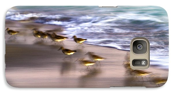 Sandpiper Galaxy S7 Case - Playing Pipers by Betsy Knapp