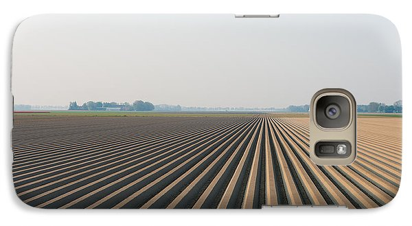 Galaxy Case featuring the photograph Plowed Field by Hans Engbers