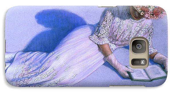 Galaxy Case featuring the painting Poetic Moment by Sue Halstenberg