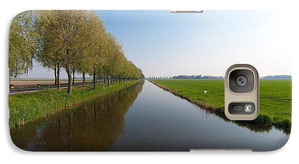 Galaxy Case featuring the photograph Polder Ditch by Hans Engbers