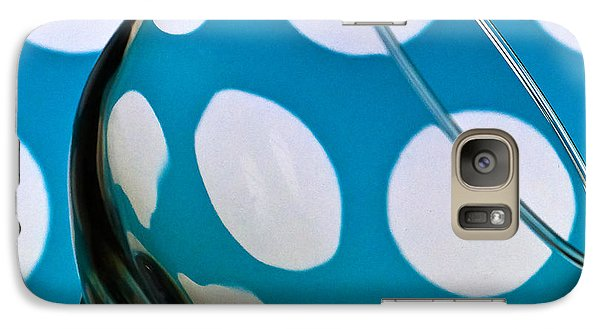 Galaxy Case featuring the photograph Polka Dot Glass by Steve Purnell