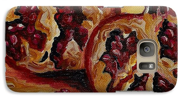 Galaxy Case featuring the painting Pomegranate by Karen  Ferrand Carroll