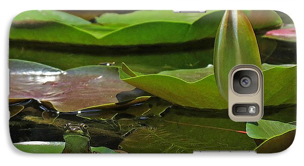 Galaxy Case featuring the photograph Pond Frog Kingdom by Deborah Smith
