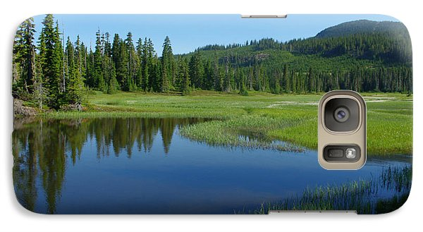 Galaxy Case featuring the photograph Pond Reflection by Marilyn Wilson