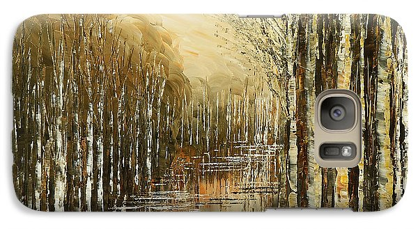 Galaxy Case featuring the painting Pond Security by Tatiana Iliina