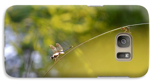 Galaxy Case featuring the photograph Pond-side Perch by JD Grimes
