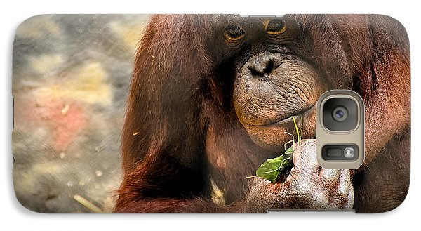 Orangutan Galaxy S7 Case - Pondering by Mark Papke
