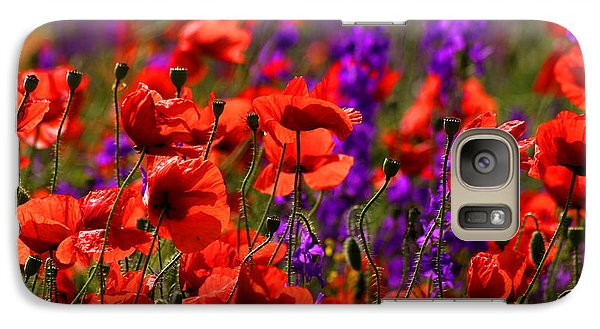 Galaxy Case featuring the photograph Poppy Field by Emanuel Tanjala