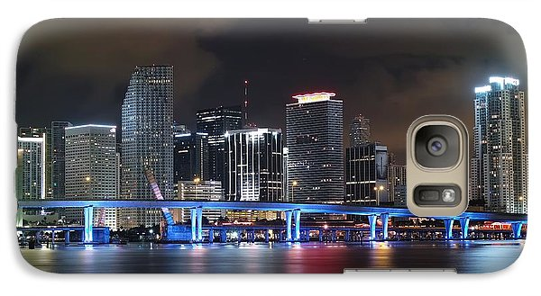 Galaxy Case featuring the photograph Port Of Miami Downtown by Gary Dean Mercer Clark