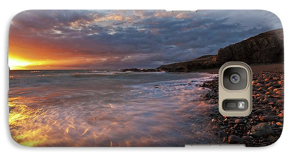 Galaxy Case featuring the photograph Porth Swtan Cove by Beverly Cash