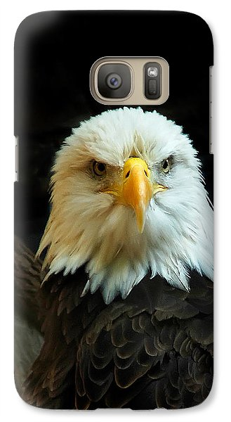 Galaxy Case featuring the photograph Portrait American Bald Eagle by Randall Branham