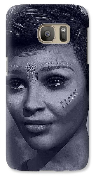 Galaxy Case featuring the digital art Portrait by Maynard Ellis