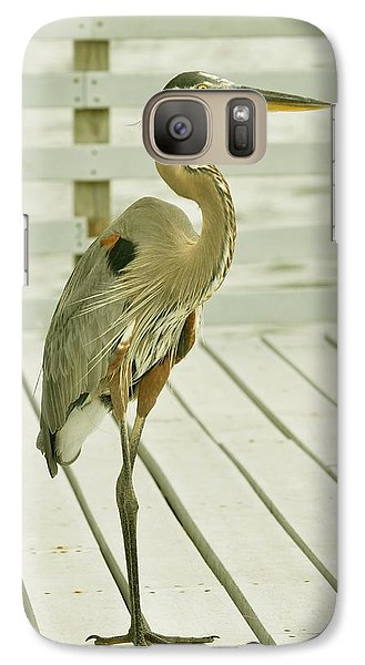 Galaxy Case featuring the photograph Portrait Of A Heron by Rick Frost