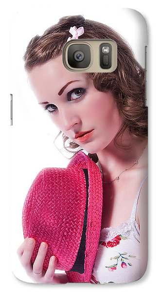 Galaxy Case featuring the photograph Portrait Of A Woman by Jim Boardman
