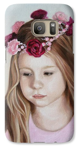 Galaxy Case featuring the painting Portrait Of Kristinka by Jindra Noewi