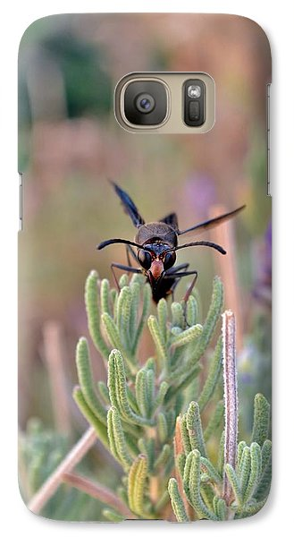 Galaxy Case featuring the photograph Potter Wasp by Werner Lehmann