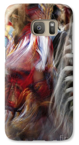 Galaxy Case featuring the photograph Pow Wow Dancer by Vivian Christopher