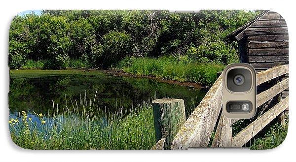 Galaxy Case featuring the photograph Prairie Pond by Jim Sauchyn