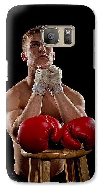 Galaxy Case featuring the photograph Praying Boxer by Jim Boardman