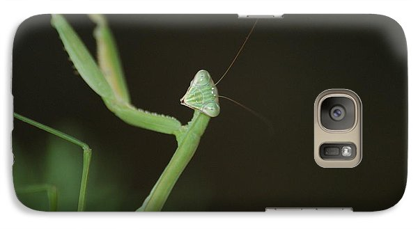 Galaxy Case featuring the photograph Praying Mantis by Heidi Poulin