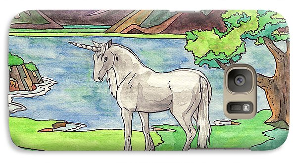 Prehistoric Unicorn Galaxy S7 Case