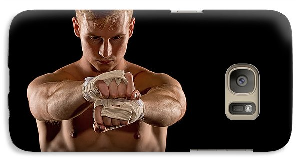 Galaxy Case featuring the photograph Preparing For The Fight by Jim Boardman