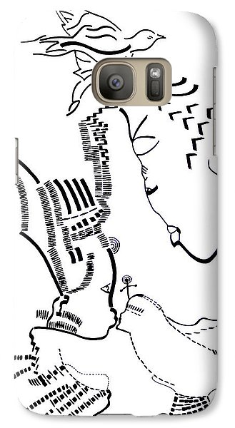 Galaxy Case featuring the drawing Presentation Of Jesus In The Temple by Gloria Ssali