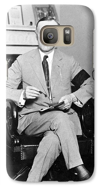 President Calvin Coolidge Galaxy S7 Case by International  Images