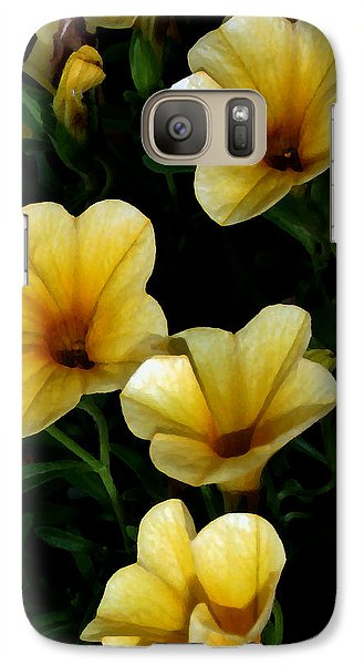 Galaxy Case featuring the painting Pretty In Yellow by Karen Harrison