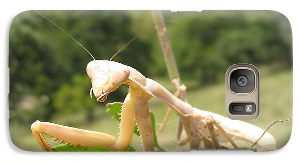 Galaxy Case featuring the photograph Preying Mantis by Mark Robbins