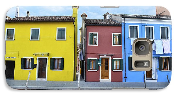 Galaxy Case featuring the photograph Primary Colors In Burano Italy by Rebecca Margraf