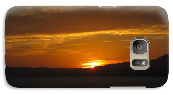 Galaxy Case featuring the photograph Puerto Vallarta Sunset by Marilyn Wilson