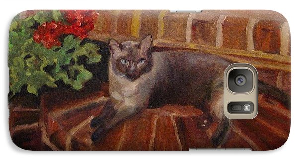 Galaxy Case featuring the painting Puff by Carol Berning