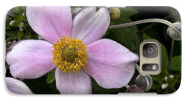 Galaxy Case featuring the photograph Purple Anemone II by Michael Friedman
