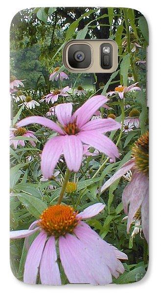 Galaxy Case featuring the photograph Purple Coneflowers by Vonda Lawson-Rosa