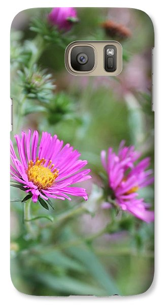 Galaxy Case featuring the photograph Purple Flower by Laurinda Bowling