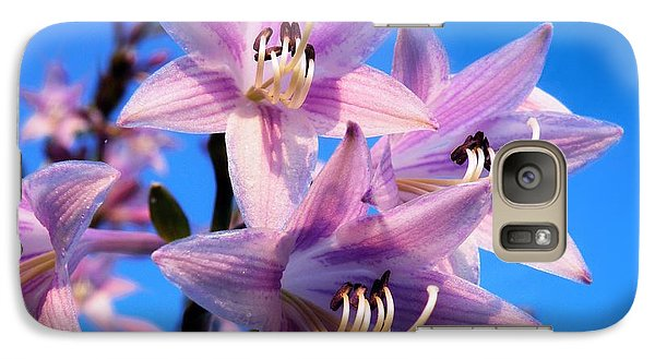 Galaxy Case featuring the photograph Purple Hosta Blooms by Davandra Cribbie