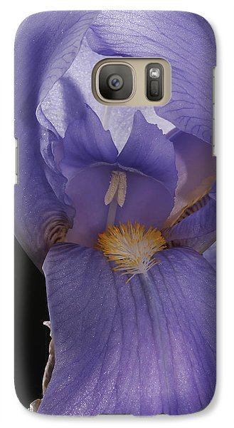 Galaxy Case featuring the photograph Purple Iris by Art Whitton