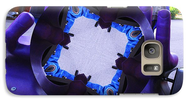 Galaxy Case featuring the photograph Purple Magic Fingers Chair by Kym Backland