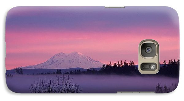 Galaxy Case featuring the photograph Purple Mountain Majesty by Chalet Roome-Rigdon