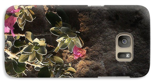 Galaxy Case featuring the photograph Purple Sage And Desert Rock In Morning Light by Louis Nugent