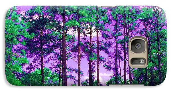 Galaxy Case featuring the photograph Purple Sky by George Pedro