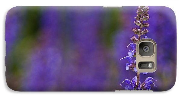 Galaxy Case featuring the photograph Purple Spires by Trevor Chriss