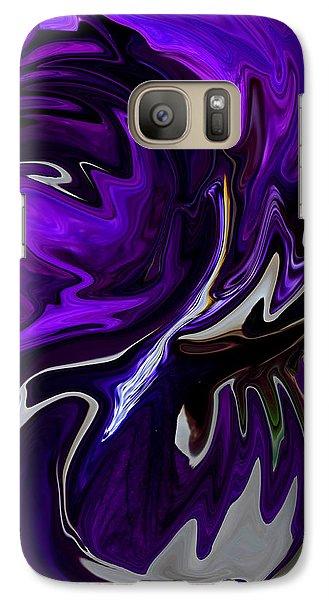Galaxy Case featuring the digital art Purple Swirl by Karen Harrison