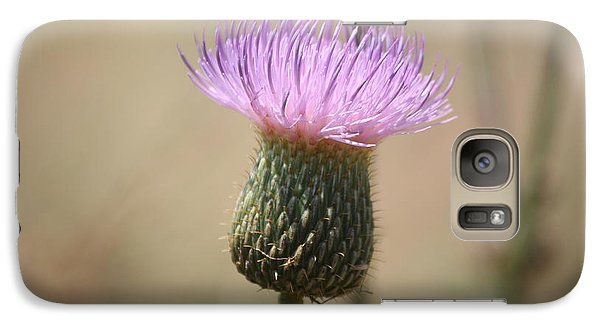 Galaxy Case featuring the photograph Purple Thistle by Donna  Smith