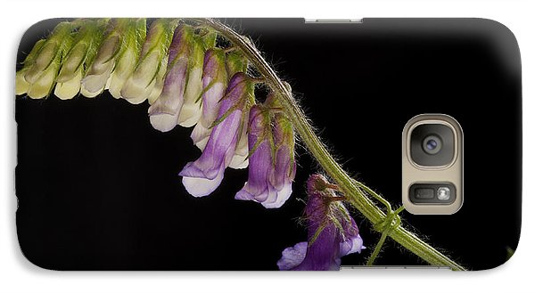 Galaxy Case featuring the photograph Purple Vetch by Art Whitton