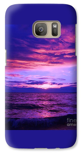 Galaxy Case featuring the photograph Purplosion by Marianne NANA Betts