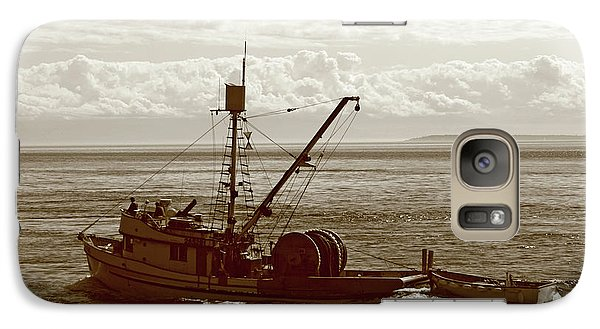Galaxy Case featuring the photograph Purse Seine Departure by Lorraine Devon Wilke