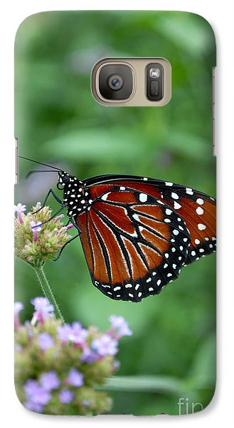 Galaxy Case featuring the photograph Queen Butterfly by Eva Kaufman